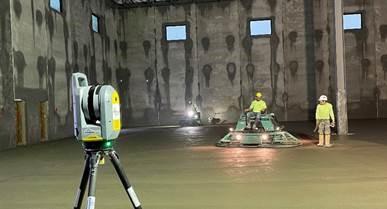 Trimble X7 Laser Concrete Scan in Progress